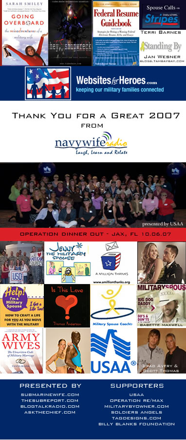 Thank You for a Great 2007 from Navy Wife Radio