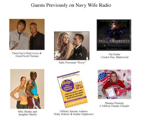 Navy Wife Radio past Guests